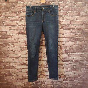 1822 Vintage Jeans Dark Wash Mid Rise Skinny Size